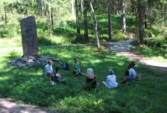 Skogsvandring i Hamborgstrømskogen
